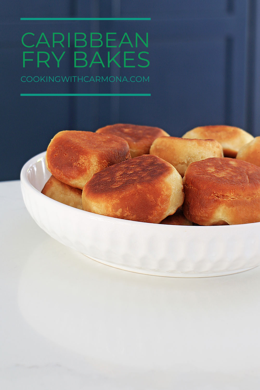 Caribbean bread in a bowl